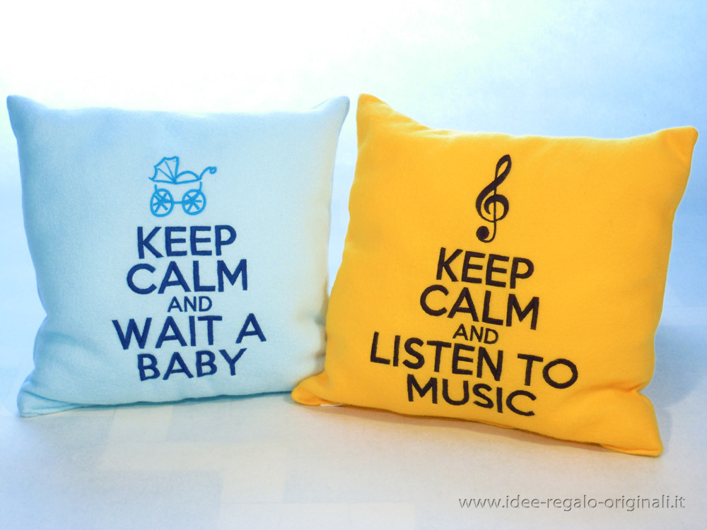 Cuscino keep calm idea regalo for Keep calm immagini