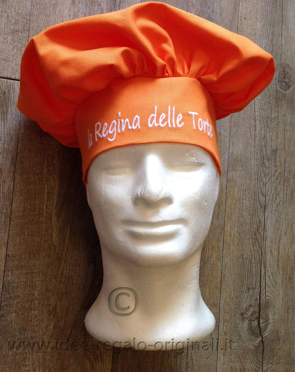 Cappello da cuoco personalizzato ARANCIO - Idea Regalo 3302642c2988