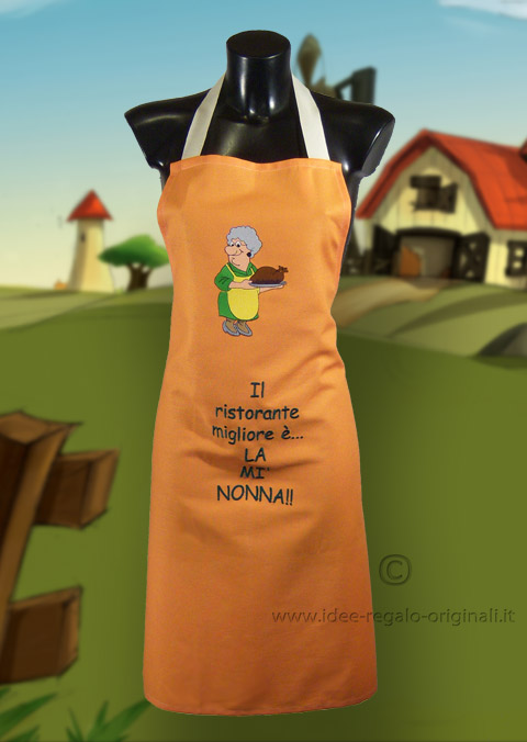 Grembiule da cucina nonnina idea regalo - Grembiule cucina personalizzato ...