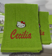 Coppia asciugamani Hello Kitty 2, Idee regalo originali